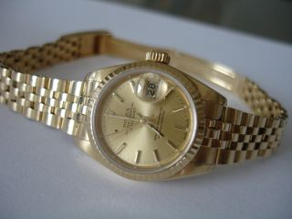 Rolex Datejust Lady 18kt Gold Uhr/ Watch 25mm Bild