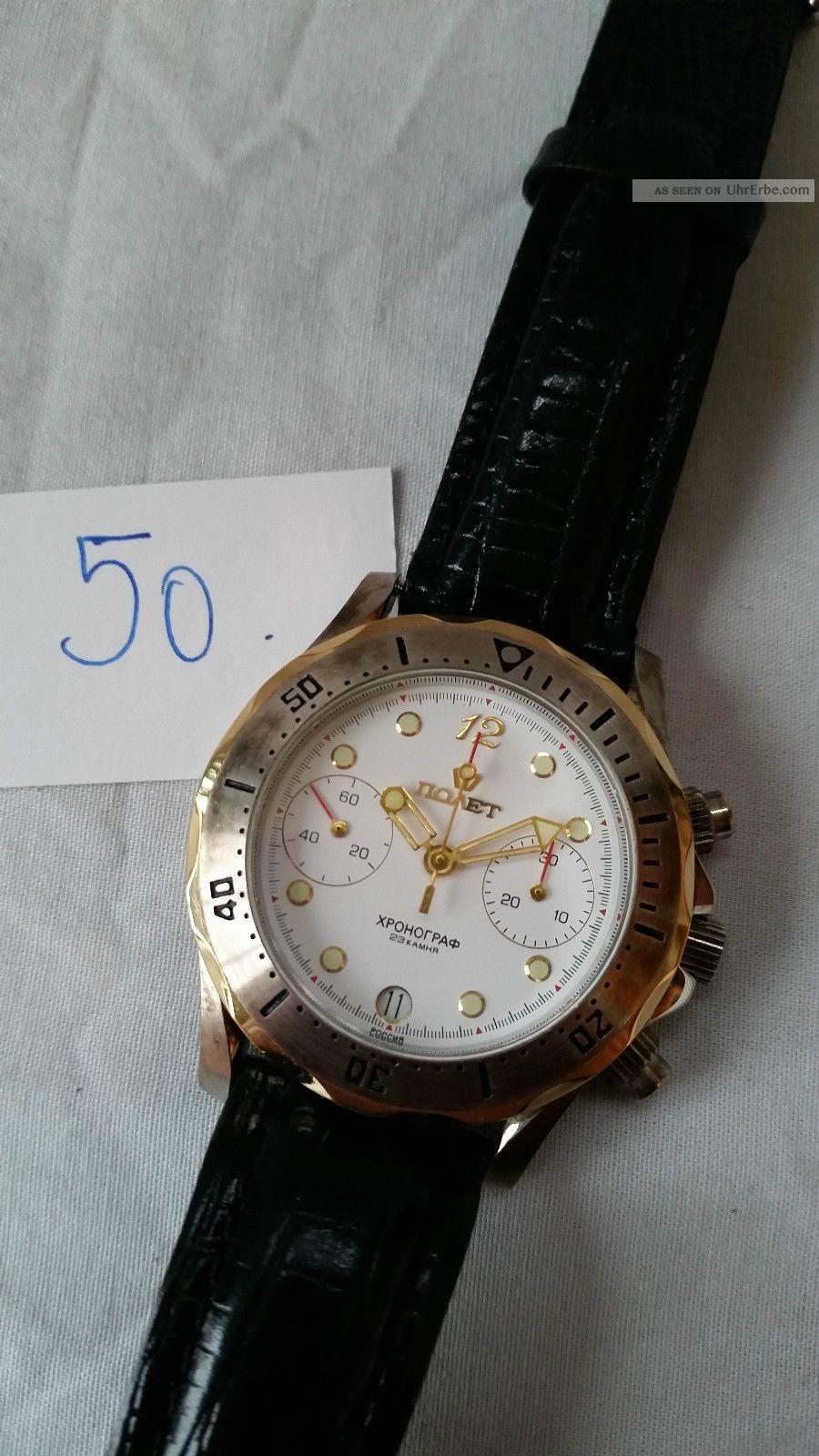 Poljot Russland Chronograph MilitÄr Handaufzug Cal.  3133 (50) Armbanduhren Bild