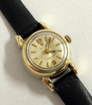Vintage Omega Ladymatic Automatik Damen Armbanduhr,  Cal.  455 (goldhaube). Bild