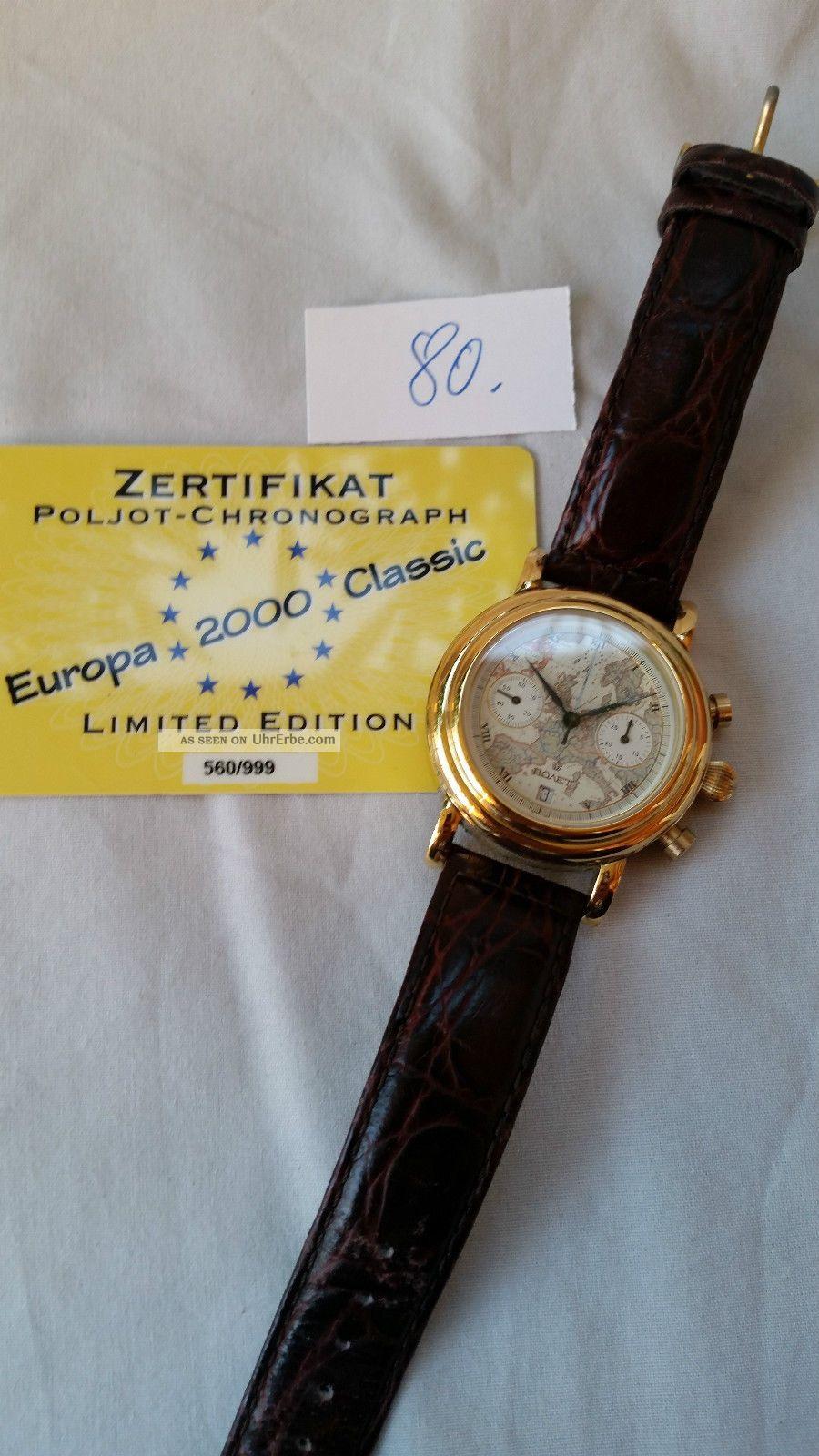 Poljot Russland Chronograph MilitÄr Mit Zertifikat Handaufzug Cal.  3133 (80) Armbanduhren Bild