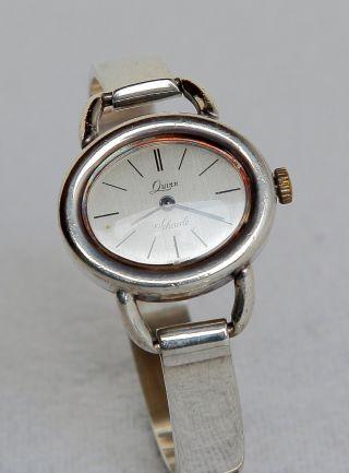 Schwere Quinn 925 Sterlingsilber Uhr Analog Handaufzug Massiv Damen 1970er Bild