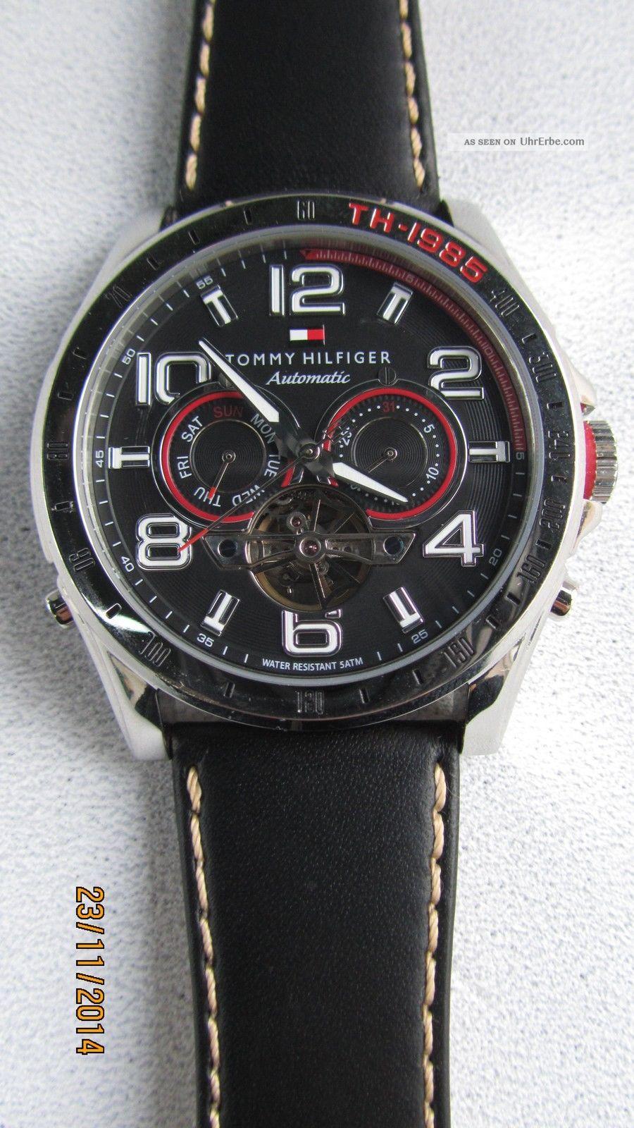 Tommy Hilfiger Automatic Mit Day - Datum -.  Anzeiger Hau Armbanduhren Bild