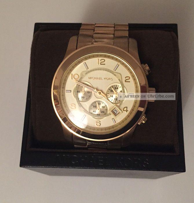 Michael Kors Uhr Chrongraph Edelstahl Gold Roségold Silber Blogger Armbanduhren Bild