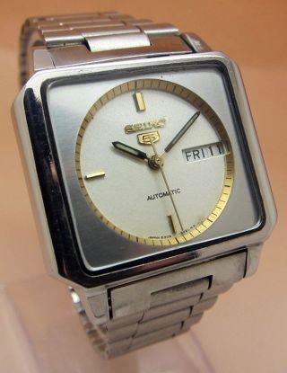 Seiko 5 Square Tv 6309 - 5470 Mechanische Automatik Uhr Datum & Taganzeige Bild