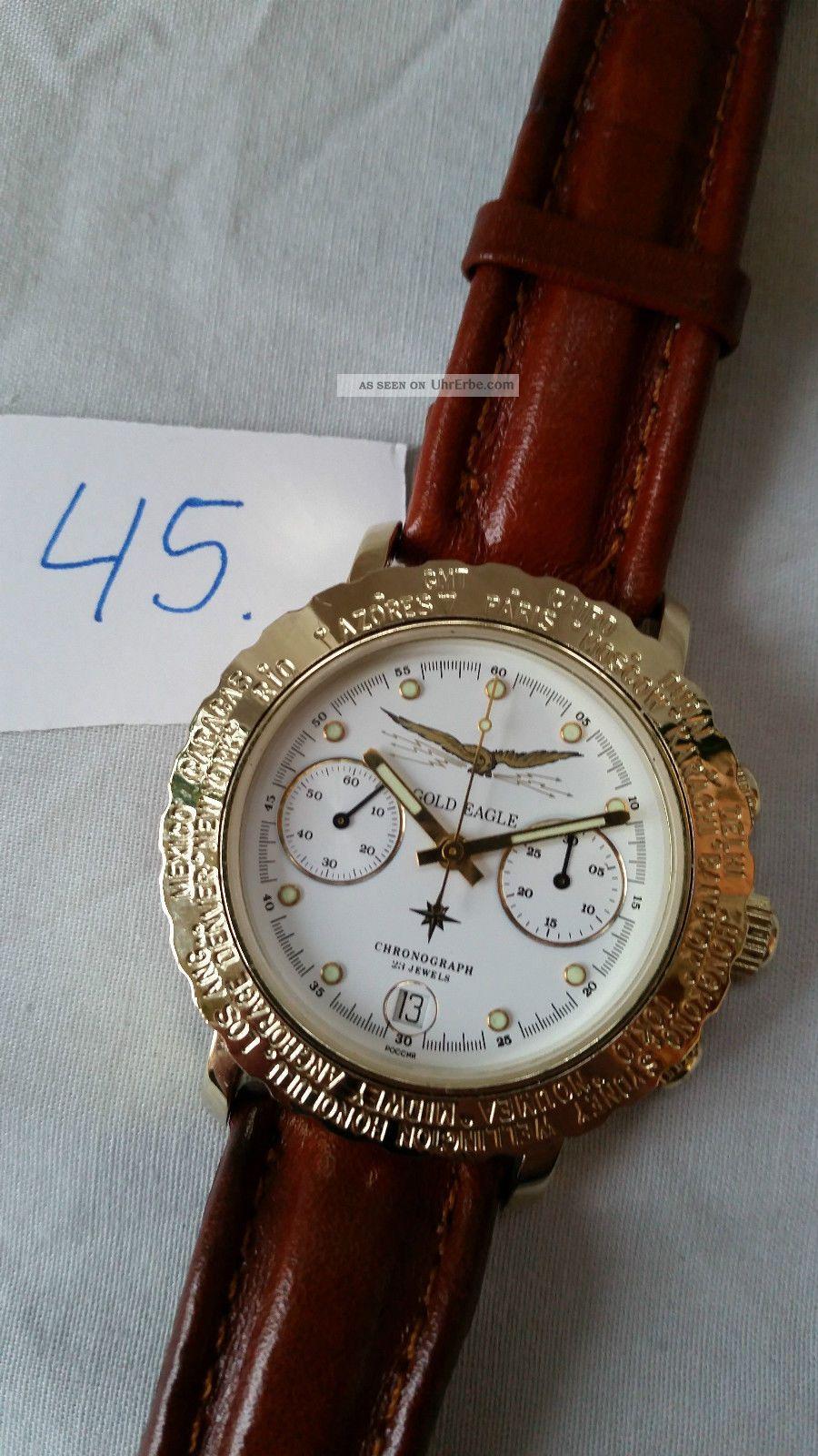 Poljot Russland Chronograph MilitÄr Handaufzug Cal.  3133 (45) Armbanduhren Bild