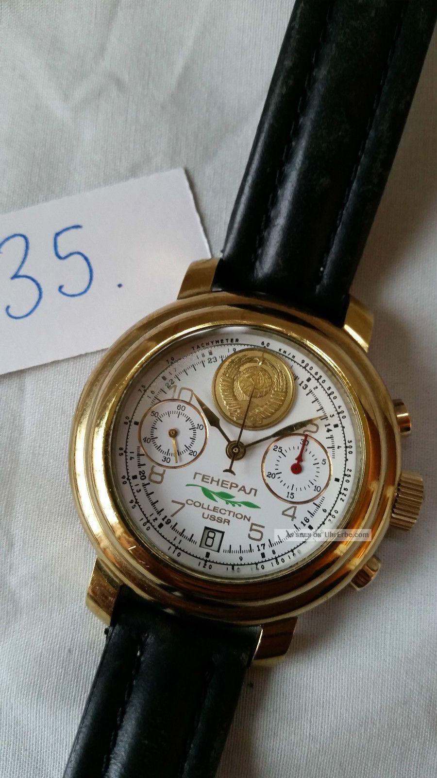 Poljot Russland Chronograph MilitÄr Handaufzug Cal.  3133 (35) Armbanduhren Bild