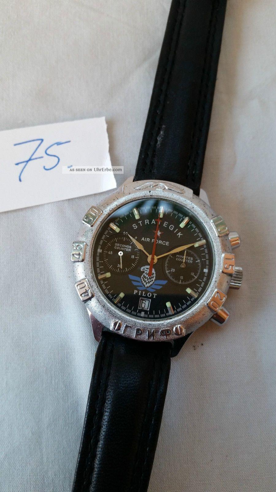Poljot Russland Chronograph MilitÄr Handaufzug Cal.  3133 (75) Armbanduhren Bild