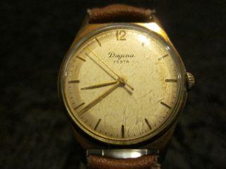 Dugena Festa Uhr Uhren Handaufzug Hau Deutschland Germany 20 Micron Gold Bild