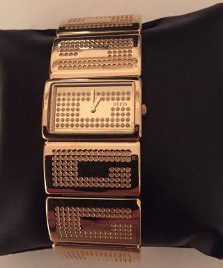 Guess Vergoldete Edelstahl Armbanduhr Für Damen G Boss W16548l1 M Strass Np 189€ Bild
