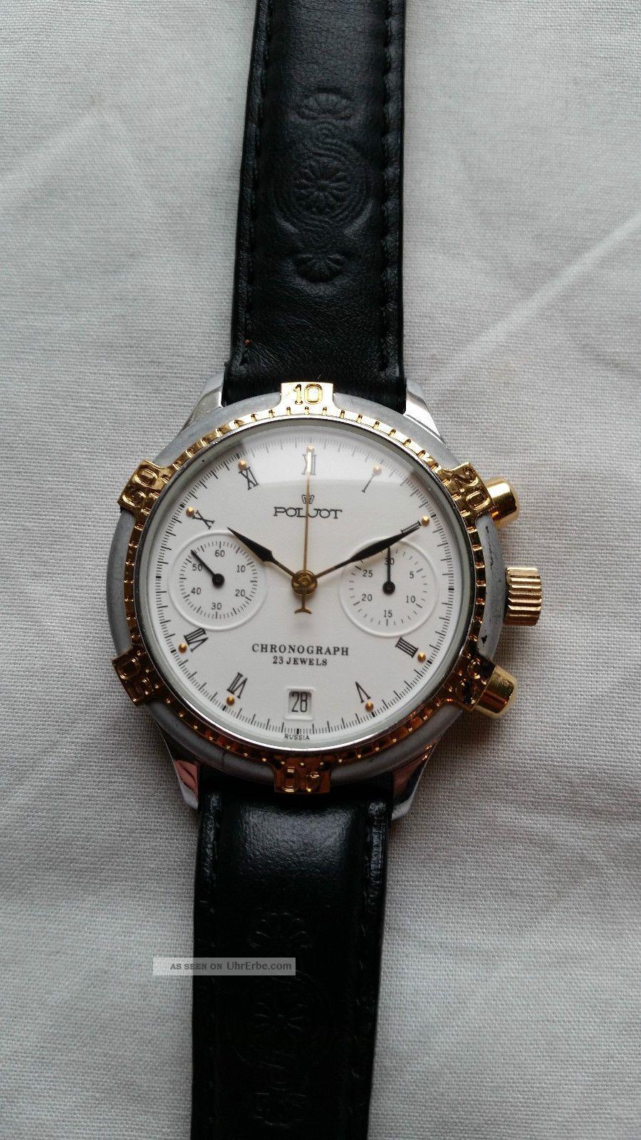 Poljot Russland Chronograph MilitÄr Handaufzug Cal.  3133 (18) Armbanduhren Bild