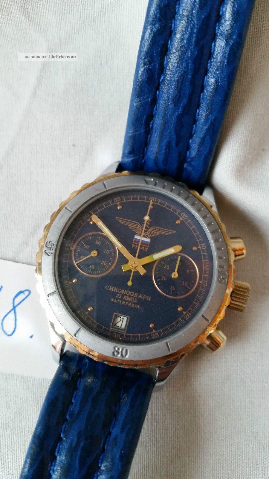 Poljot Russland Chronograph MilitÄr Handaufzug Cal.  3133 (48) Armbanduhren Bild