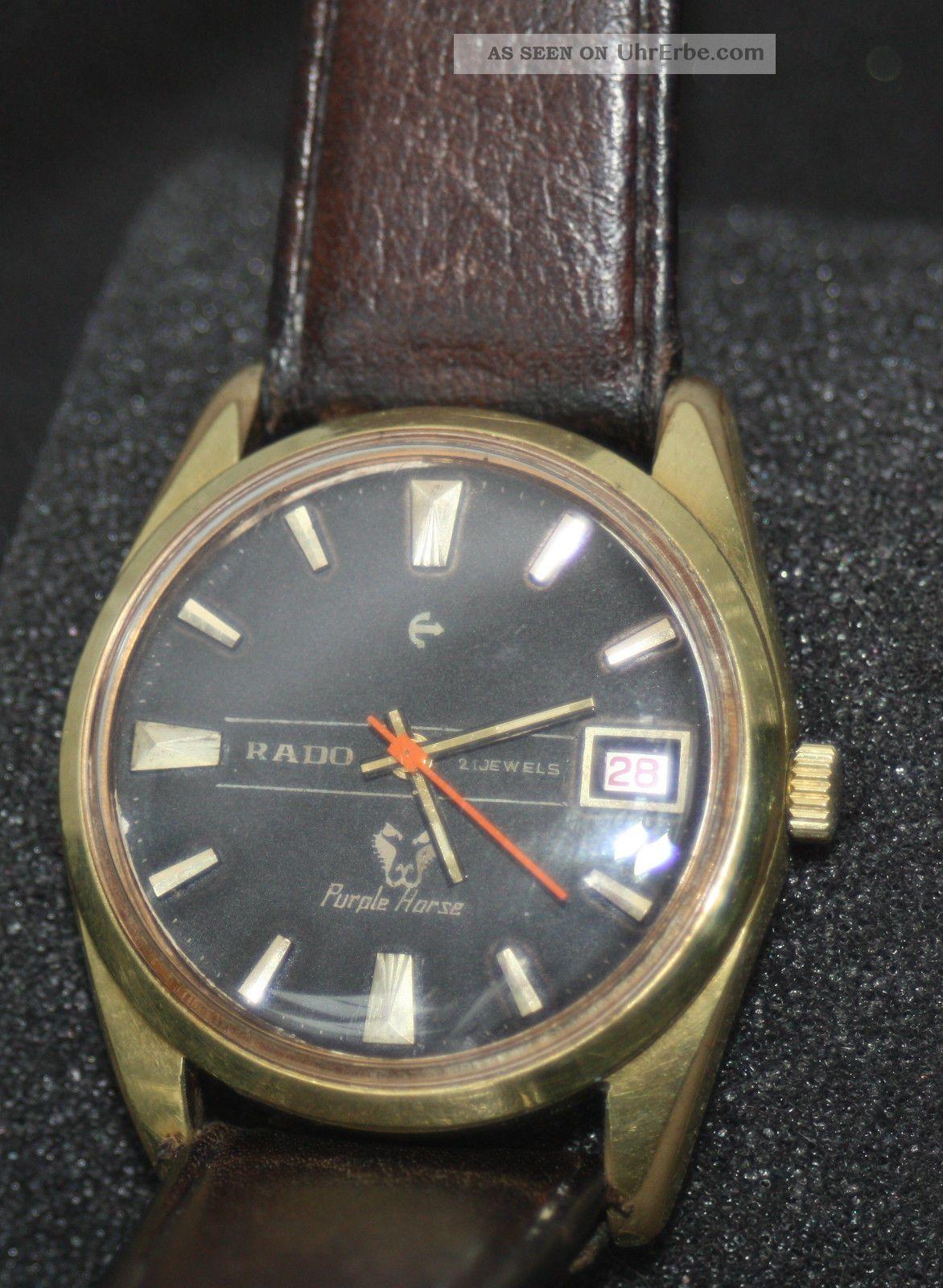Alte Luxusuhr Der Edelmarke - Rado - Aus Den 50ern Armbanduhren Bild