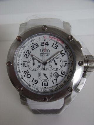 Tomwatch Tombauer Ocean 48 Wa 00158 Chrono Edelstahl Weiß Uvp 169€ Bild