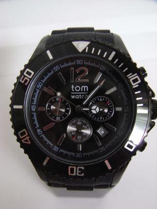 Tomwatch Chrono 44 Wa 0093 Schwarz Armbanduhr Gl.  Produktion Wie Kyboe Uvp 119€ Bild