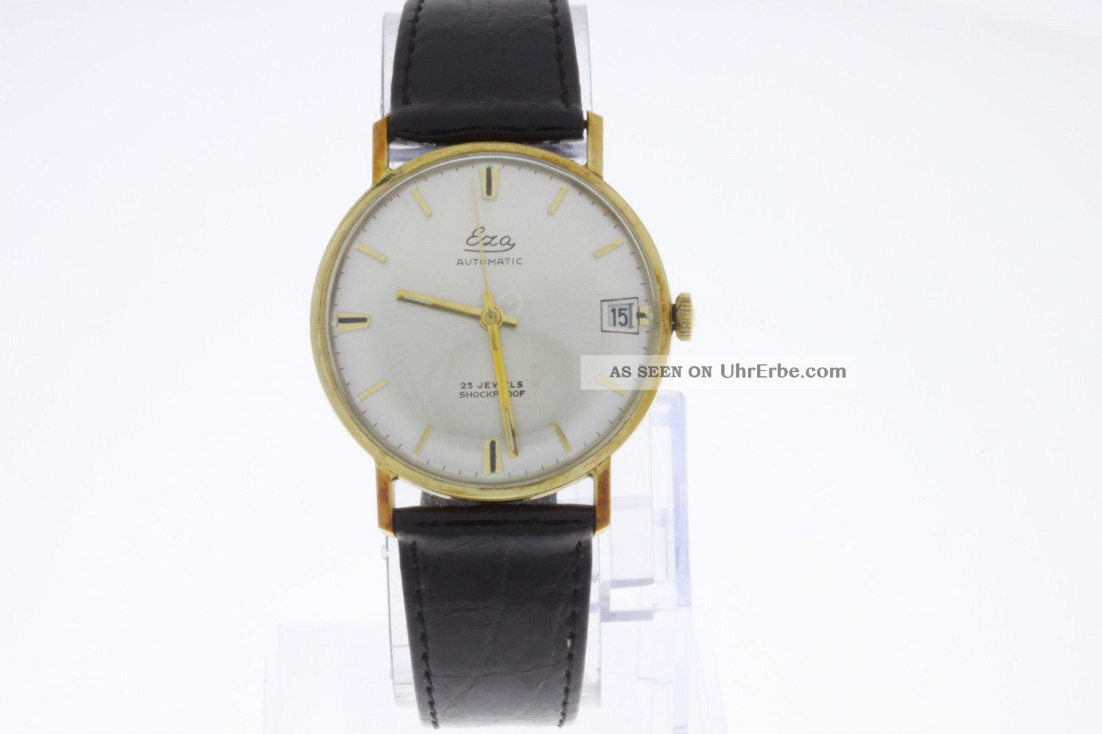 Eza Vintage Automatic Armbanduhr Vergoldet Old Stock Armbanduhren Bild