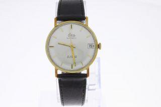 Eza Vintage Automatic Armbanduhr Vergoldet Old Stock Bild