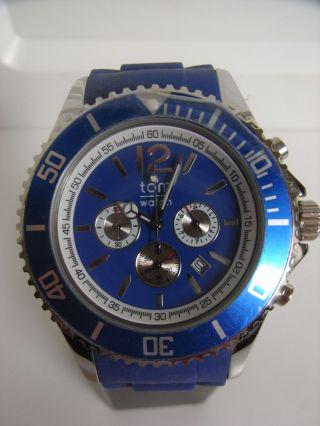 Tomwatch Chrono 48 Wa 0099 Blau Armbanduhr Gl.  Produktion Wie Kyboe Uvp 119€ Bild