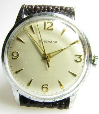 Alte Junghans 93 S1 Herrenarmbanduhr Aus Den 50er Jahren Bild