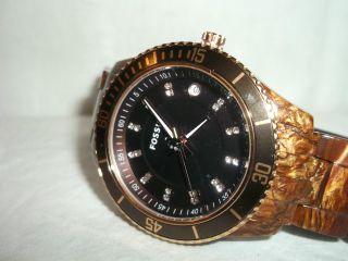 Fossil Es3088 Stainless Steel Damen Armbanduhr Mit Strassverzierung Sehr Edel Bild