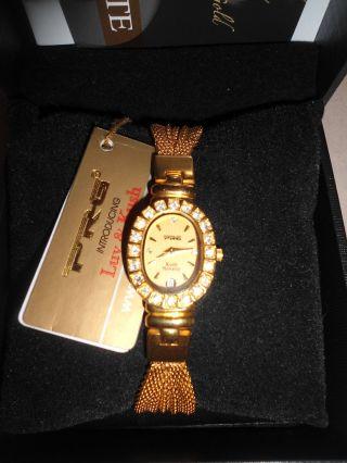 Luv & Kush Damenarmbanduhr Elegante Oro Gold Datum Bild
