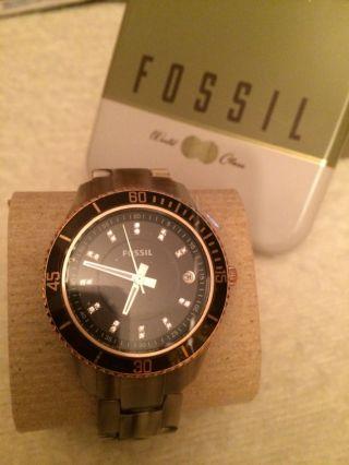Fossil Damenuhr Es3090 Stella Uhr Design Kunststoff In Alphornoptik Edel Rar Bild