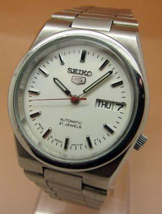Seiko 5 Durchsichtig Automatik Uhr 7s26 - 00n0 21 Jewels Datum & Taganzeige Bild