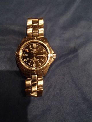 Breitling Colt Chronometre Quartz Schwarz Stahlarmband Bild