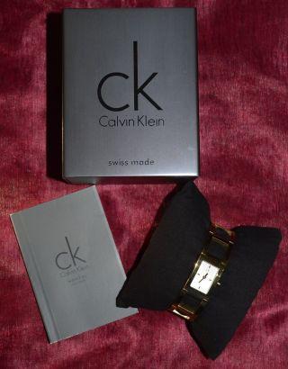 Damen « Armbanduhr « Calvin Klein « Goldfarben « Bild