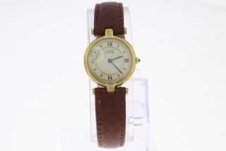 Cartier Paris Vermeil Must De Cartier Damenuhr Quartz Bild