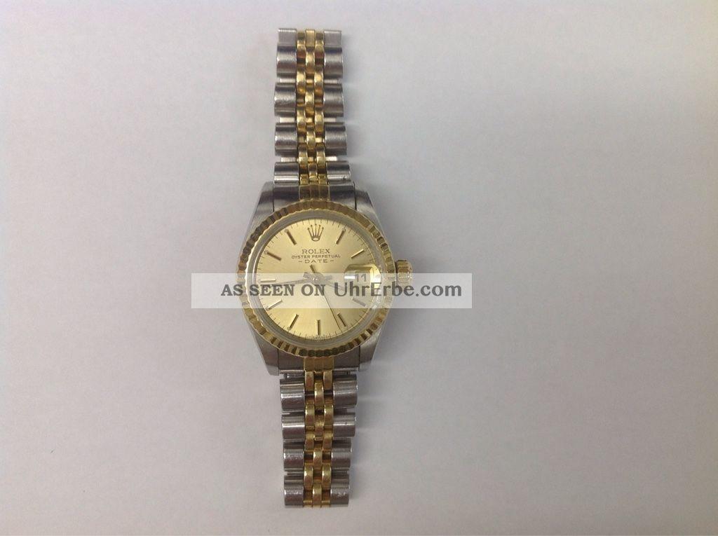 Rolex Datejust Lady 69173 Automatik Stahl Gelbgold Armbanduhren Bild