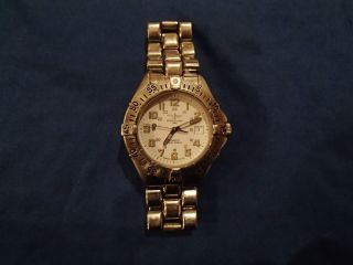 Breitling Colt Quartz Uhr Klassiker Weiss Stahlarmband Bild