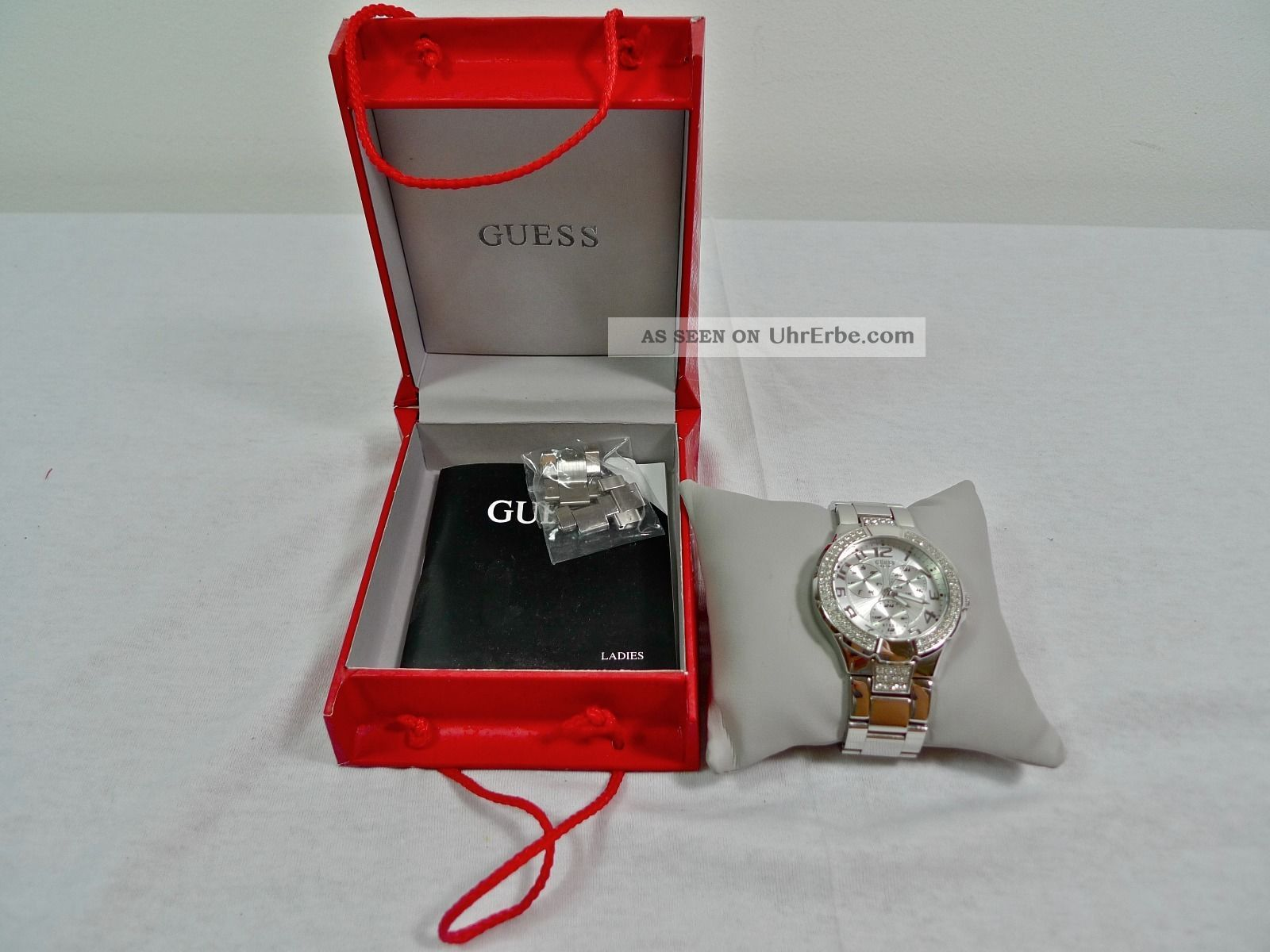 Guess Prism Ladies Stainless Steel Chronograph Uhr I14503l1 Watch Armbanduhr Armbanduhren Bild