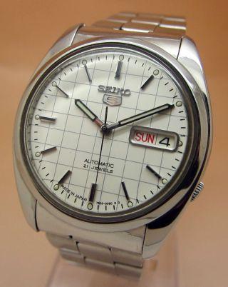 Seiko 5 Durchsichtig Automatik Uhr 7s26 - 0590 21 Jewels Datum & Tag Bild