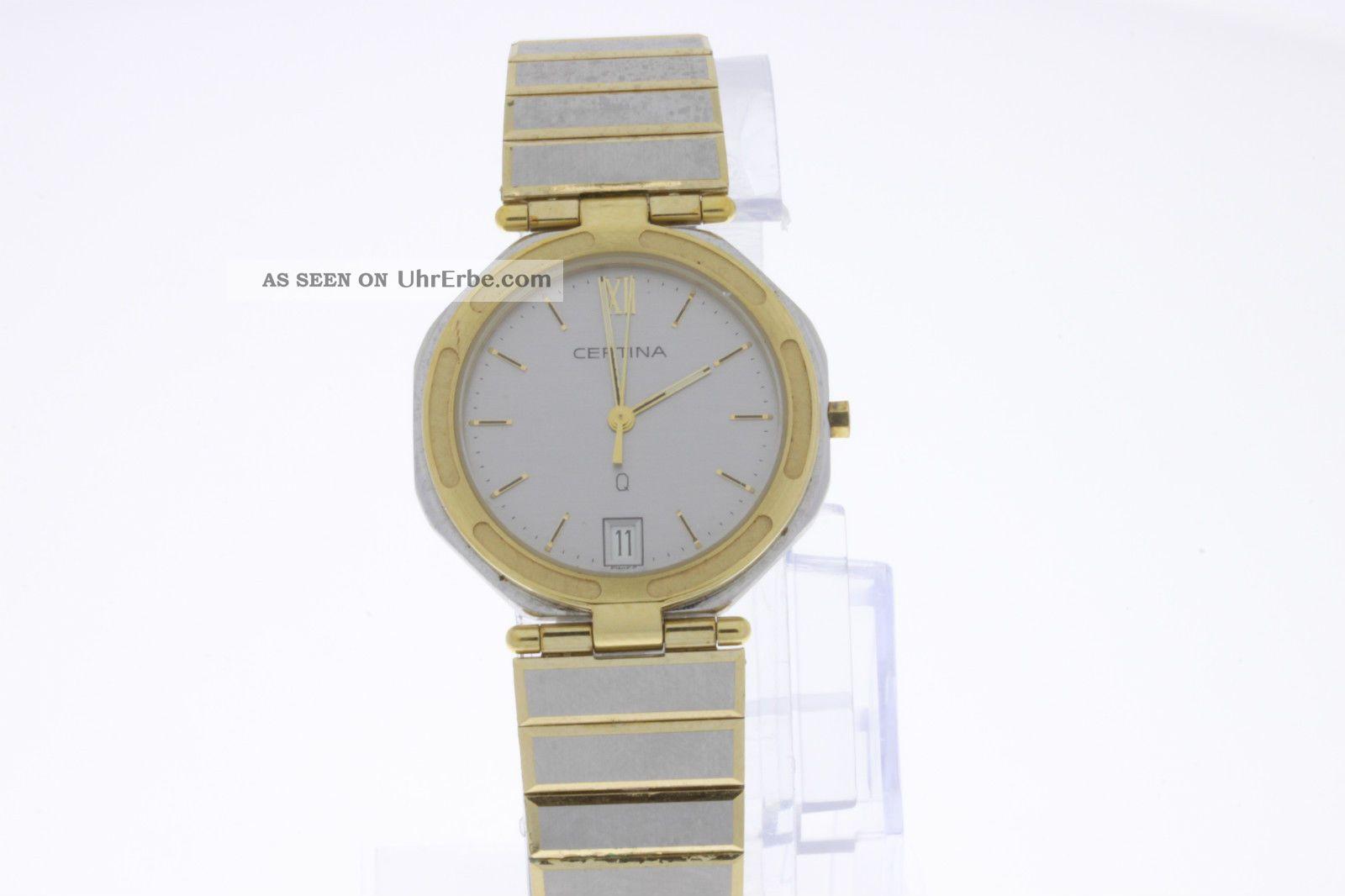 Certina Q Damenuhr Stahl/gold Quartz Armbanduhren Bild