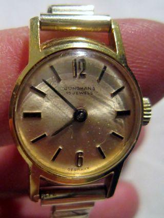 Dau Junghans Mit Junghans 674 Uhrwerk Mit 15 Jewels Mit Flexarmband Um 1965 Bild