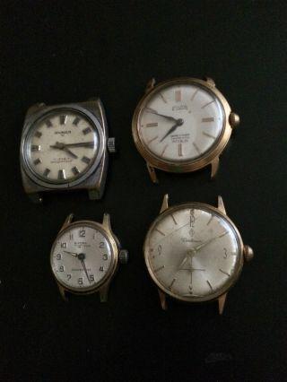 4x Elegante Vintage Armbanduhren Handaufzug - Bifora,  Ankra 53,  Centaur,  Elvia Bild