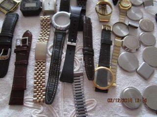 Uhren Sammelsurium,  Ersatzteile,  Armbänder Zum Basteln Bild