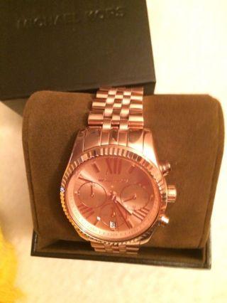 Michael Kors Damen Uhr Mk5569 Chronograph Edelstahl,  Rosegoldfarben Ovp Bild