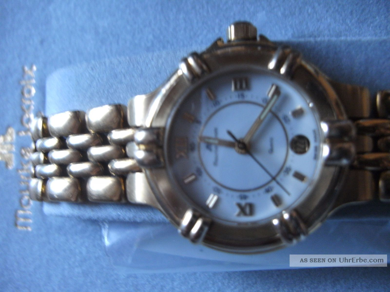Maurice Lacroix Damen Golduhr (10k Elekroplatiert) Neue Batterie Armbanduhren Bild