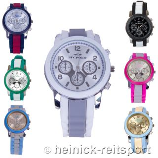 Hv Polo Uhr Alicante In 7 Trendigen Farben Armbanduhr Chronograph Bild