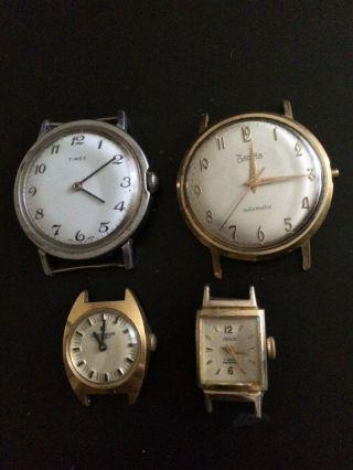 4x Vintage Armbanduhren Handaufzug & Automatik - Junghans,  Zentra,  Adora,  Timex Bild