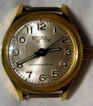 Dau Bifora Top 15 Mit Bifora 91/1 Uhrwerk Mit 17 Jewels Ohne Armband Um 1964 Bild