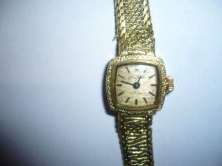 Gub Damen Armband Uhr Glashütte Handaufzug 17 Rubis In Goldoptik Bild