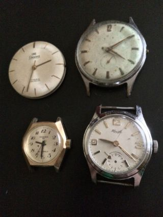 3x Vintage Armbanduhren Handaufzug,  1 Werk - Kienzle,  Ankra 62,  Oke Eleganz Bild