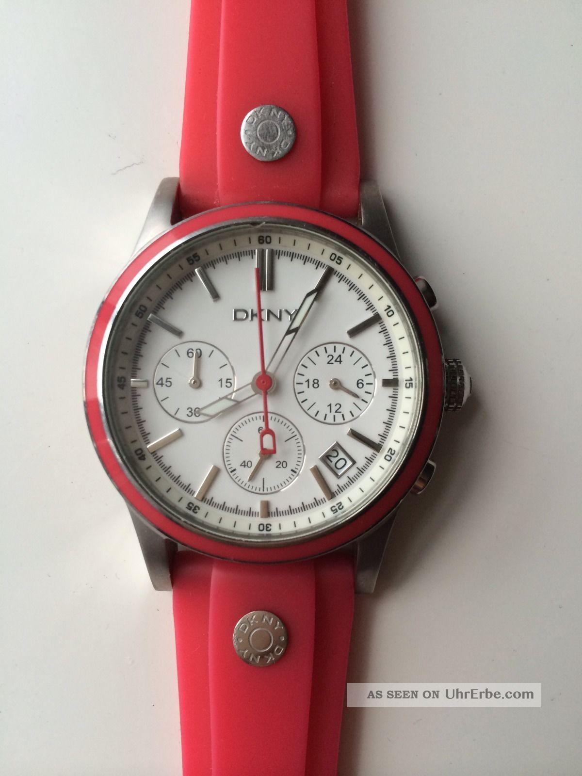 Dkny Uhr Rot Silikon - Xmas Armbanduhren Bild
