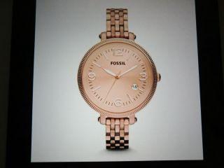 Fossil Armbanduhr Rosegold Heather (es3182) Mit Etikett Bild