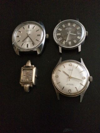 4x Klassische Vintage Armbanduhren Handaufzug - Osco,  Parat,  Iffland 846,  Zentra Bild