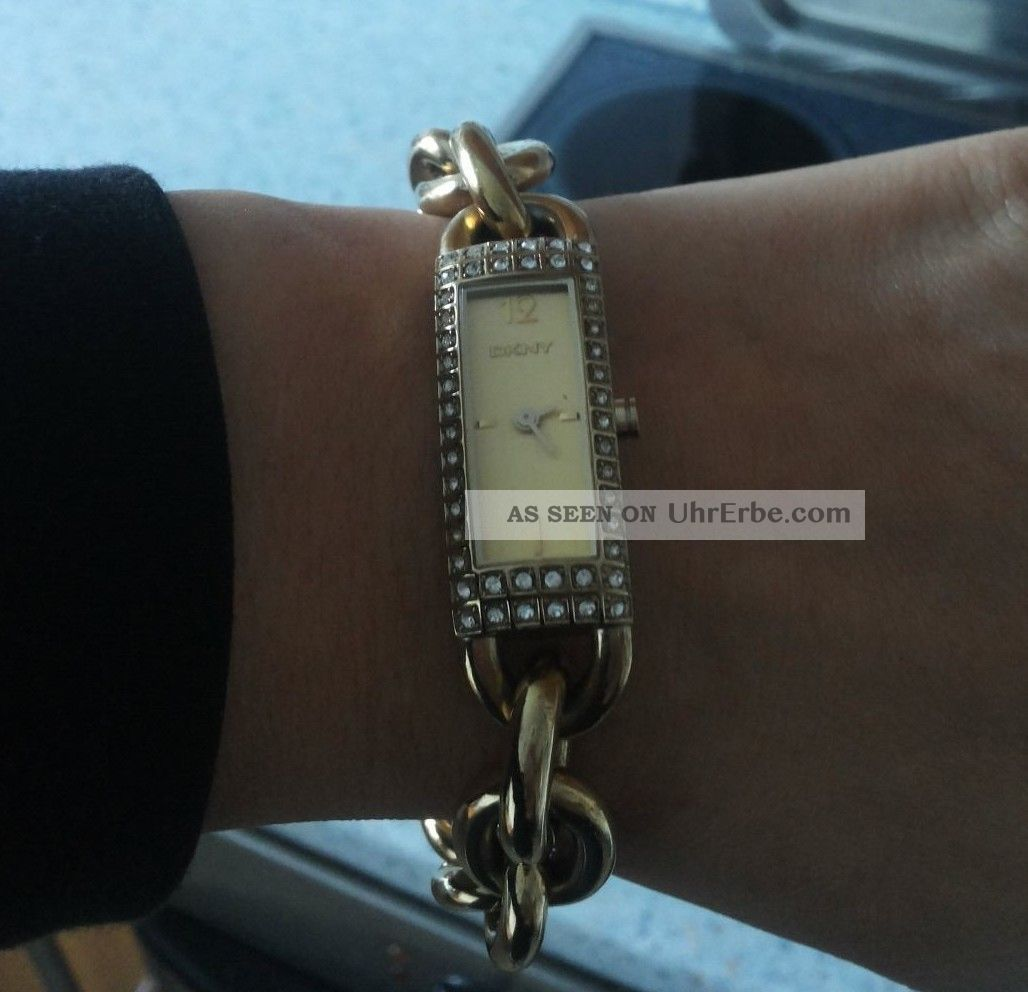 Dkny Elegante Damenarmbanduhr In Goldfarbe Armbanduhren Bild