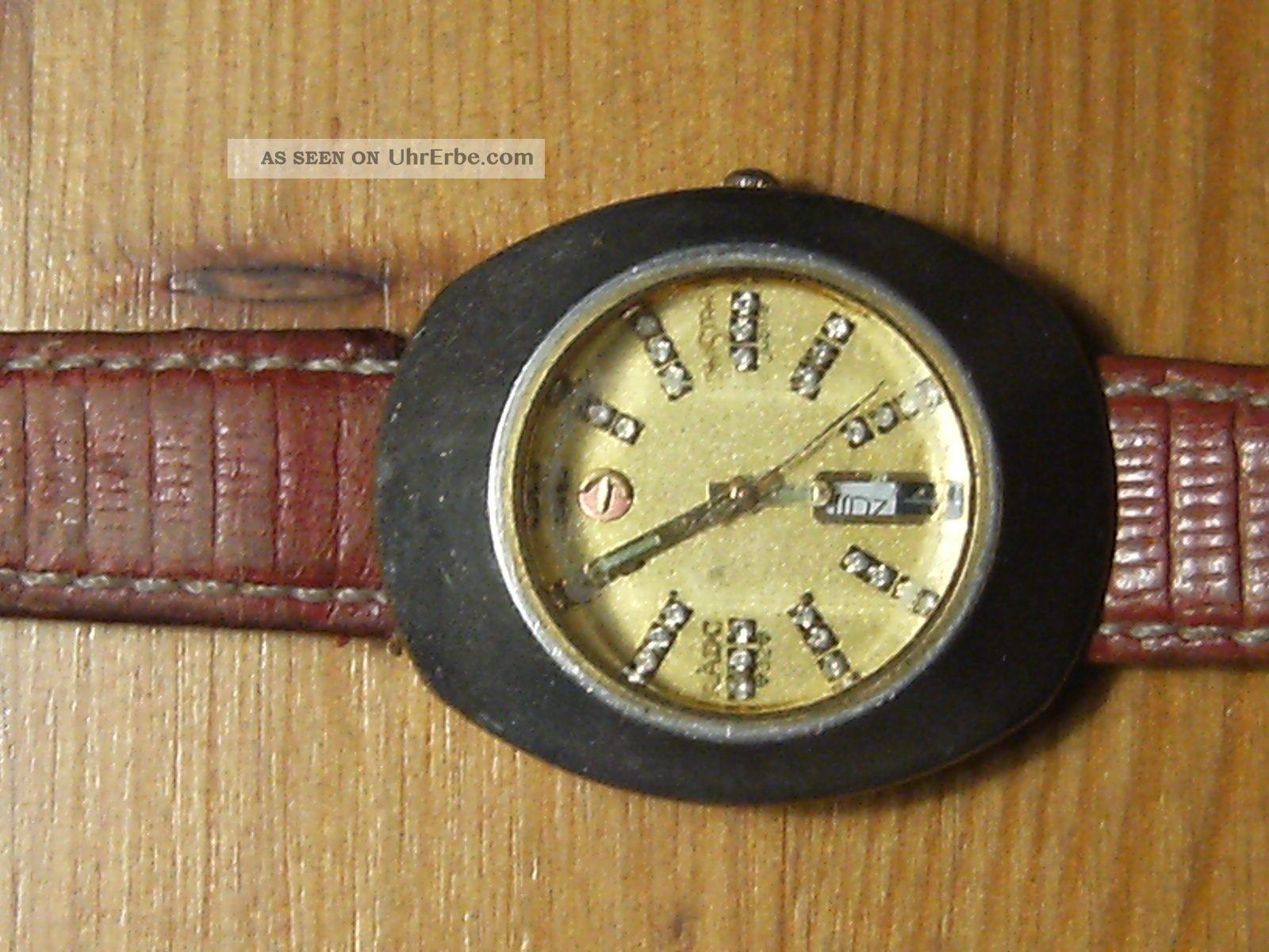 Rado Diastar Damenuhr,  32 Steine,  Automatic,  Day,  Date,  Ref.  Nr: 561.  0316.  3 Armbanduhren Bild