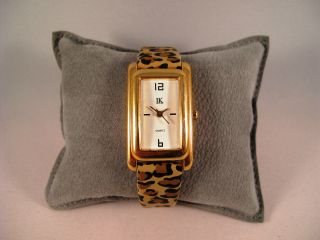 Armbanduhr,  Quartz,  Goldfarbenes Gehäuse,  Armband Mit Leopardenmuster, Bild